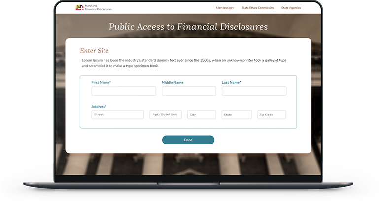 Maryland Public Access to Financial Disclosures