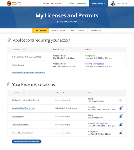 Maryland OneStop Licenses and Permits