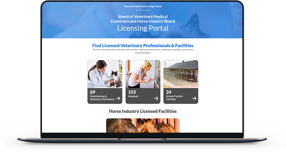 Maryland Department of Agriculture VetBoard Portal