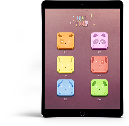 Cuddly Vitamins App on iPad