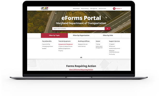 MDOT eForms Home Page